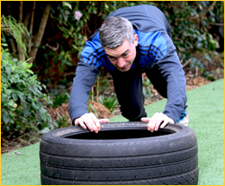 Andy King Tyre Push